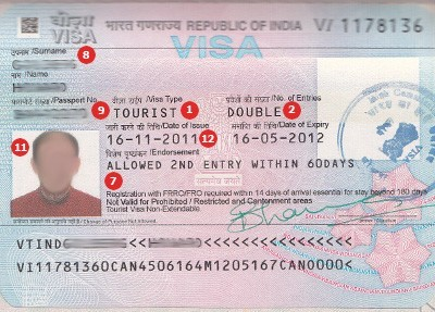 India Visa Sample